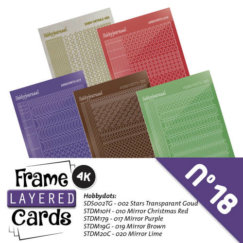 Frame Layered Cards 18 - 4K - Stickerset