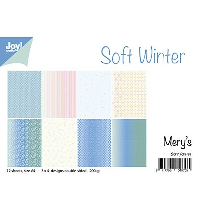 Joy! Crafts - Paperpad Mery`s Soft Winter - A4
