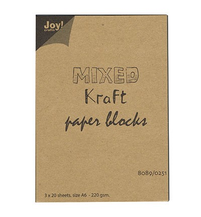 Joy! Crafts - Mixed Kraft Paperbloc A6