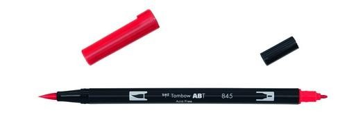 Tombow - Dual Brush Pen - Carmine ABT-845