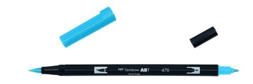 Tombow - Dual Brush Pen - Cyan ABT-476