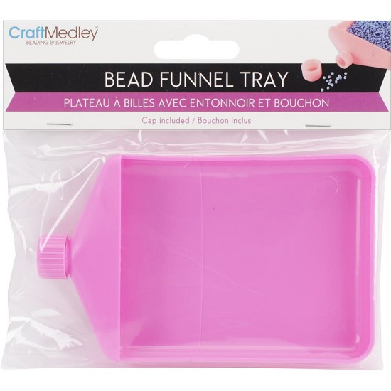 Bead Funnel Tray - Roze
