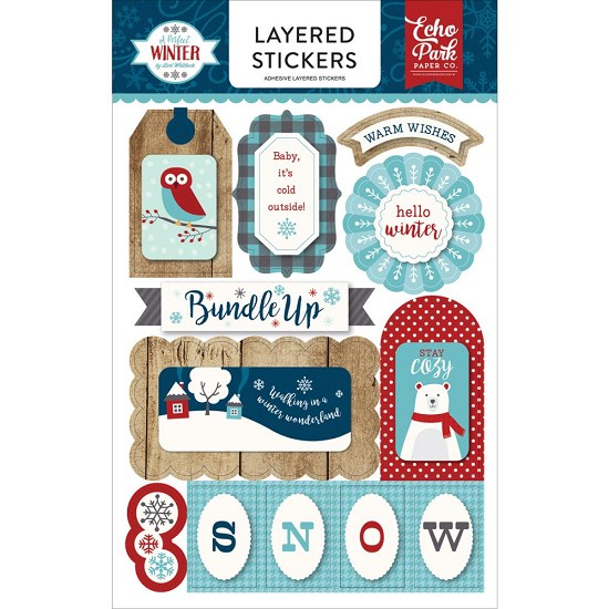 Echo Park - A Perfect Winter - Layered Stickers