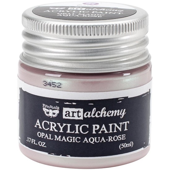 Finnabair Art Alchemy - Acrylic Paint 1.7 Fluid Ounces - Opal Magic Aqua/Rose