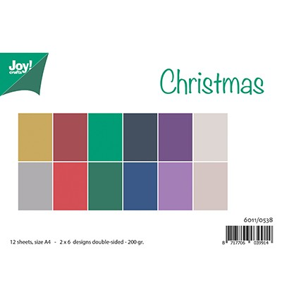 Joy! Crafts - Paperpad A4 - Matching Colors Uni - Christmas