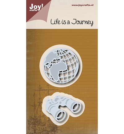 Noor! Design - Life is a Journey - Wereldbol + verrekijker