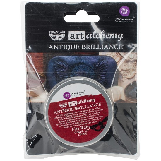 Finnabair - Art Alchemy Antique Brilliance Wax - Fire Ruby
