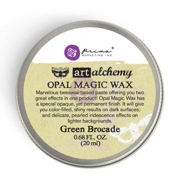 Finnabair Art Alchemy - Opal Magic Wax .68 Fluid Ounce - Green Brocade