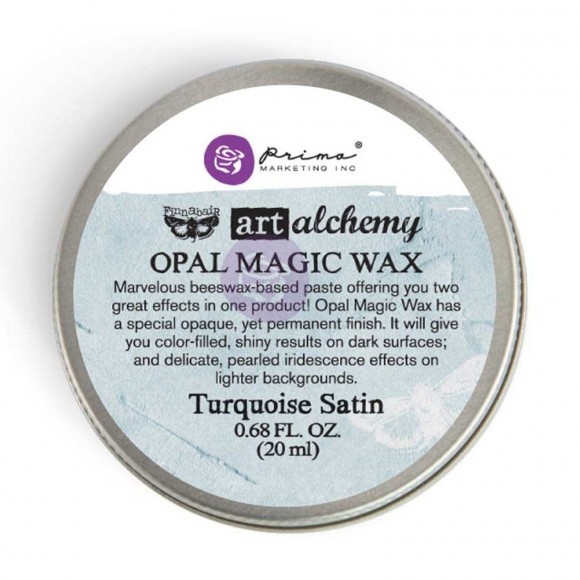 Finnabair Art Alchemy - Opal Magic Wax .68 Fluid Ounce - Turquoise Satin
