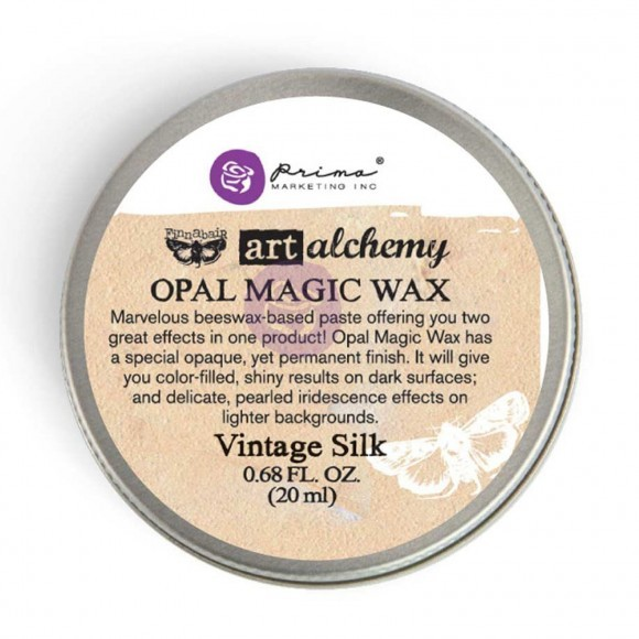 Finnabair Art Alchemy - Opal Magic Wax .68 Fluid Ounce - Vintage Silk