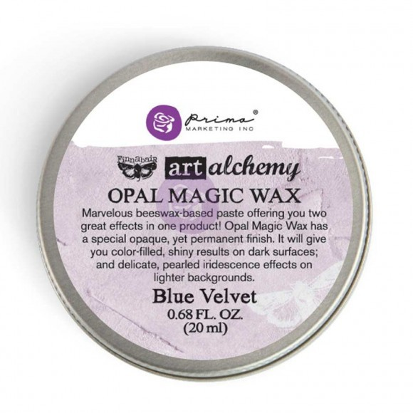 Finnabair Art Alchemy - Opal Magic Wax .68 Fluid Ounce - Blue Velvet