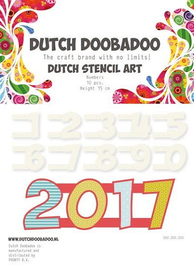 Dutch Doobadoo - Dutch Stencil Art - Numbers 2 (0-9)