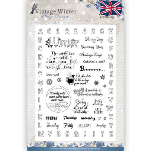 Clearstamp - Amy Design - Vintage Winter - English