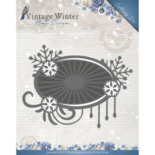 Stansmal Amy Design - Vintage Winter - Snowflake Swirl Label