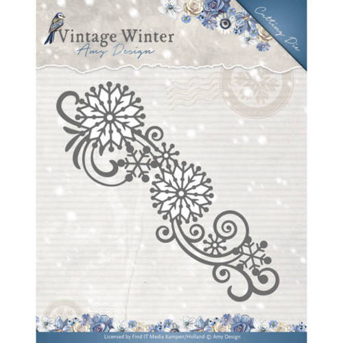 Stansmal Amy Design - Vintage Winter - Snowflake Swirl Border