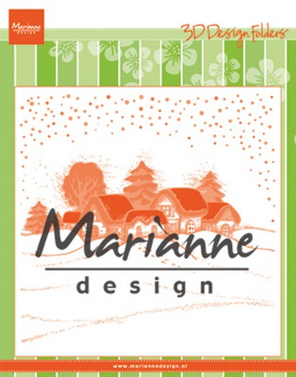 Marianne Design - Design Folder - Winter Village