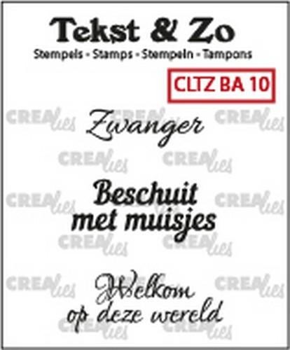 Clearstamp Crealies - Tekst & Zo - Baby 10