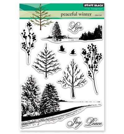 Penny Black - Clearstamp - Peaceful Winter