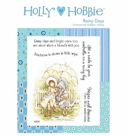 Rubber stamp Crafter`s Companion - Holly Hobbie - Rainy Days