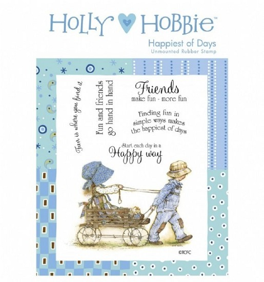 Rubber stamp Crafter`s Companion - Holly Hobbie - Happiest of Days