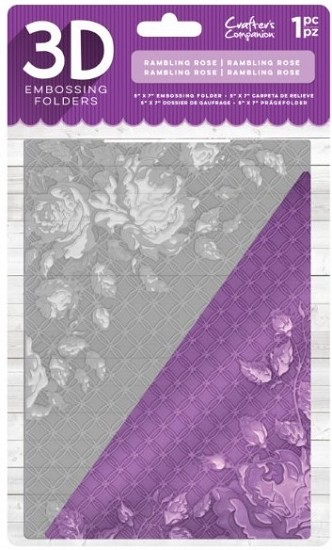 Crafter`s Companion - 3D Embossing Folder - Rambling Rose