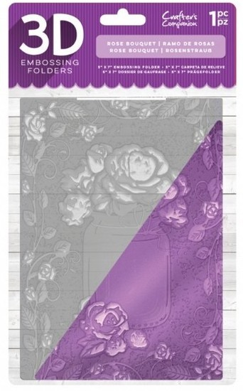 Crafter`s Companion - 3D Embossing Folder - Rose Bouquet