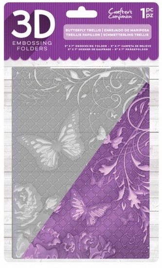 Crafter`s Companion - 3D Embossing Folder - Butterfly Trellis