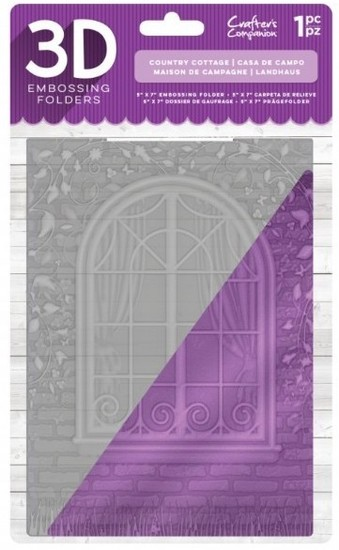 Crafter`s Companion - 3D Embossing Folder - Country Cottage