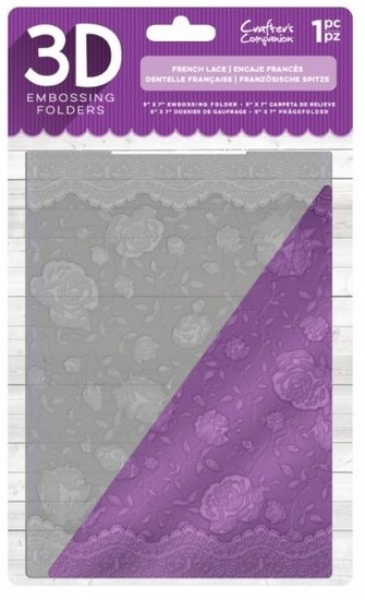 Crafter`s Companion - 3D Embossing Folder - French Lace