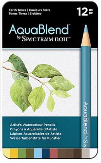 Spectrum Noir - Aqua Blend Pencils - Earth Tones (12 pc)
