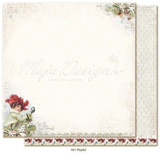 Scrappapier Maja Design - Joyous Winterday - Playful