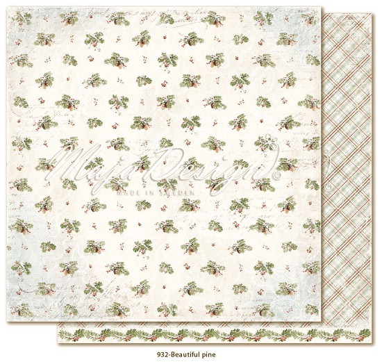 Scrappapier Maja Design - Joyous Winterday - Beautiful Pine