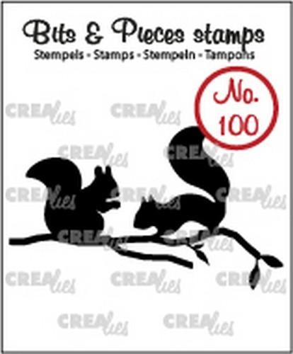 Clearstamp Crealies - Bits & Pieces - no 100 Eekhoorns