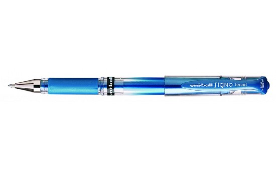 Uni-Ball Signo - Broad Point Gel Pen - Metallic Blue