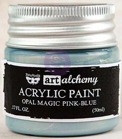 Finnabair Art Alchemy - Acrylic Paint 1.7 Fluid Ounces - Opal Magic Pink/Blue