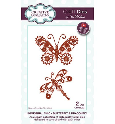 Stansmal Creative Expressions - The Industrial Chic Collection - Butterfly & Dragonfly