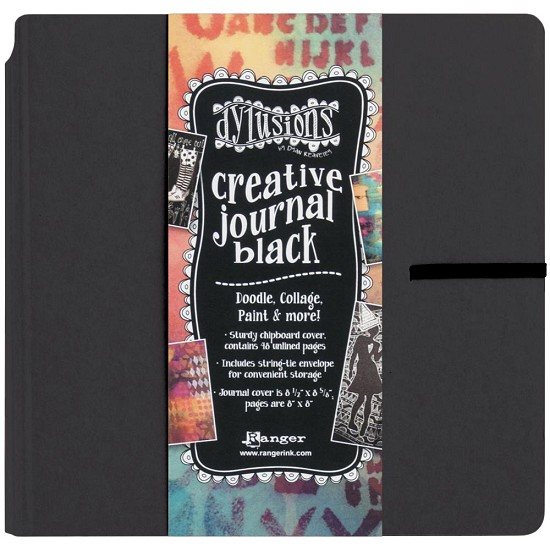 "Dylusions - Dyan Reaveley`s Creative Journal - 8"" x 8"" - Black"