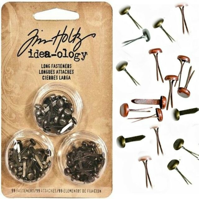 Tim Holtz - Idea-Ology - Metal Long Paper Fasteners  - 99/Pkg