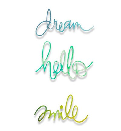 Sizzix - Thinlits - Paper Cuts Alphabet Dream