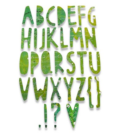 Sizzix - Thinlits - Paper Cuts Alphabet