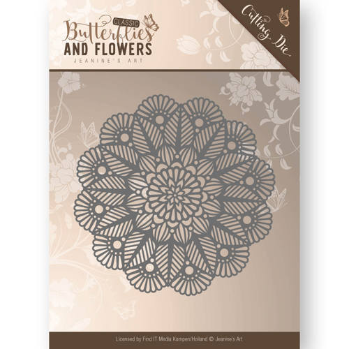 Stansmal - Jeanine`s Art - Butterflies and Flowers - Doily
