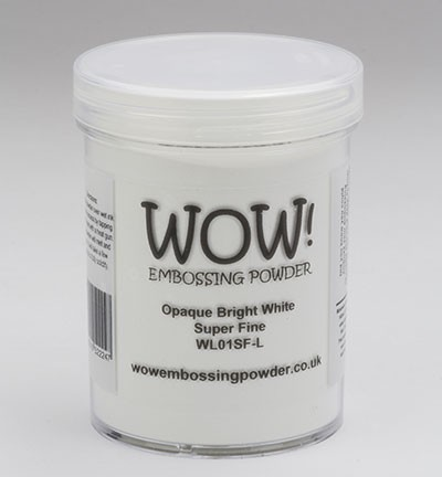 WOW! Embossingpoeder - Large 160 ml - Opaque Bright White Super Fine