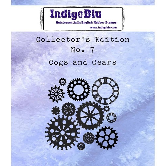 IndigoBlu - Rubber Stamp - Collectors Edition 7 - Cogs and Gears