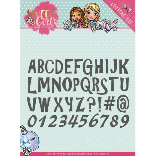 Stansmal Yvonne Creations - Sweet Girls - Lovely Alphabet