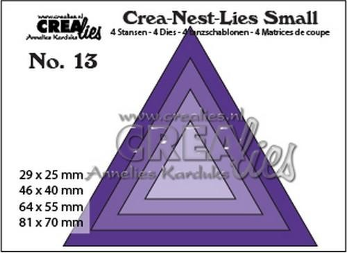 Stansmal Crealies - Crea Nest Lies - Small - no 13 Driehoeken