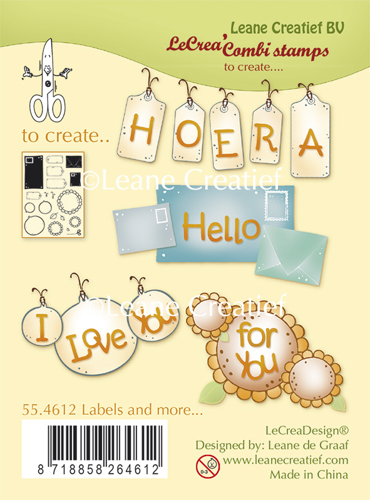 Leane Creatief - Clear Stamp Labels and more
