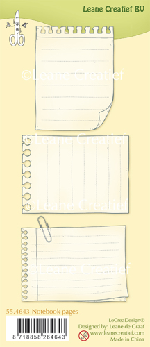 Leane Creatief - Clear Stamp Notebook pages