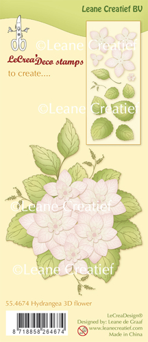 Leane Creatief - Clear Stamp Hydrangea 3D Flower