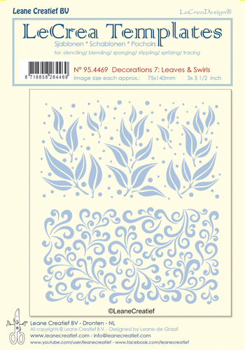 Leane Creatief - Stencil decorations 7 leaves and swirls