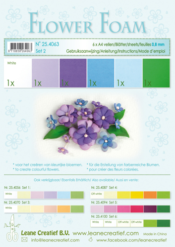 Leane Creatief - Flower foam assortment set 2 blue-violet